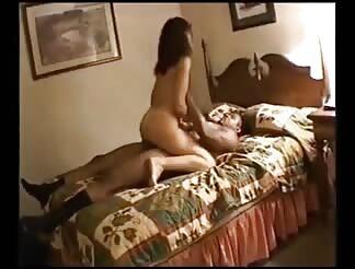 Rough sex by a monster ebony rod