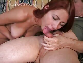 wild lady has a great experience swallowing dick