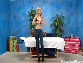 Abigalie seduced and poked hard by her massage therapist.