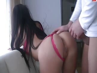 Perfect ass gf doggy fucked
