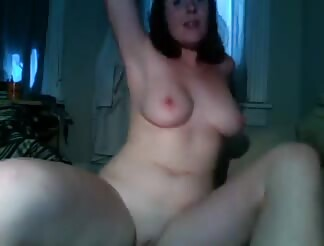 woman watches porn gets horny and rides man