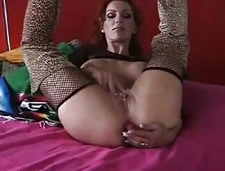 Redhead dp masturbation and suckjob with sperm