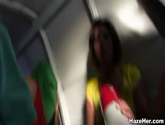Nice lesbo hazing clip