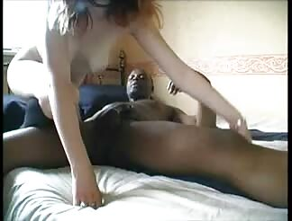 White young in socks enjoying her african dude
