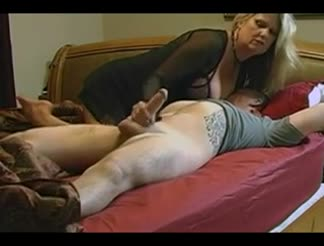 Busty mature and hubby fucking at home