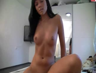 Hot brunette girl gets anal sex