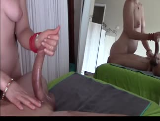 Awesome handjob with cum shot