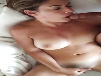 Lovely masturbating scene with blowjob