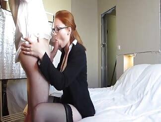 Amateur redhead secretary fucking
