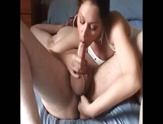 My wife blowing and playing my prostate
