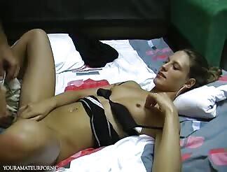 Skinny amateur girl fucked bareback