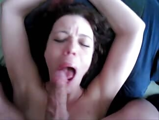 Dutch milf sucking and swallowing