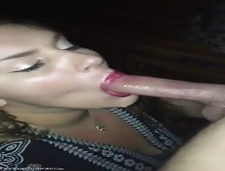 Girl nextdoor swallows it all