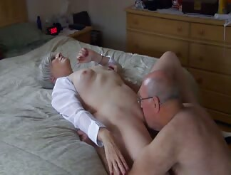 Mature has orgasm while she gets licked by husband