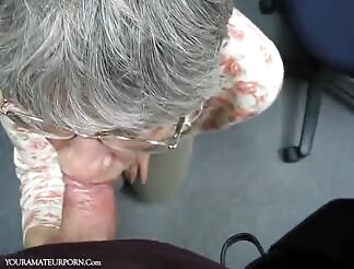 German grandma Oma loves sperm in her mouth