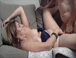 Slutty wife Joanne fucked on the couch