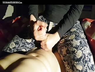 Getting a wonderful perfect handjob