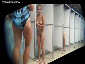 Hidden peeping cam in shower room