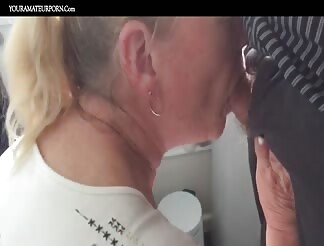 Dirty granny eager for some cum swallowing