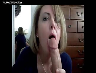 Mature sucking dick like a pro with cumshot