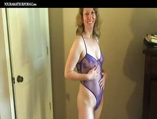 Lovely hairy mature masturbating till orgasm