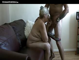 71 Year mature wife eating dick