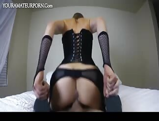 One creamy hot cockride by a stunning wife