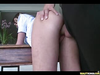 Stiff school woman hammered on the desk