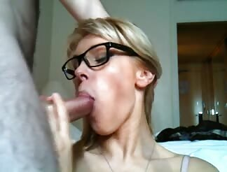 Hot blonde girl facialized after riding my hard cock