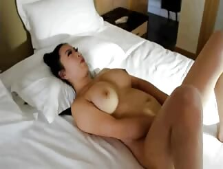 Busty chick masturbating