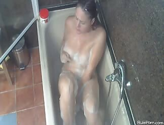 Masturbating in the bath tub