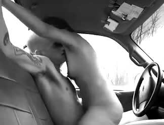 Car fuck riding cowgirl