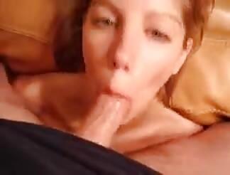 sexy woman has a deep throat
