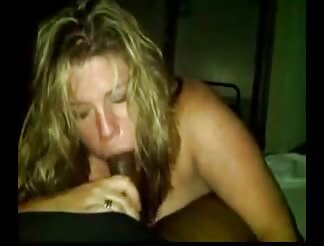wild blondie blows dark penis