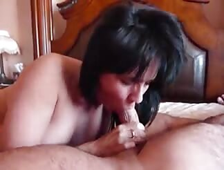 mature gives him a great bj
