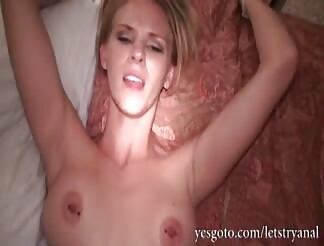 yellow-haired amateur Alli May first time anal plowing on camera