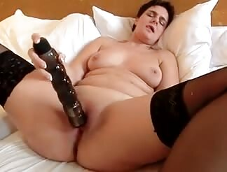 old Anna and her massive sextoy