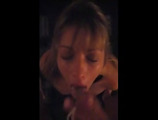 Lisa the skank slave facialed
