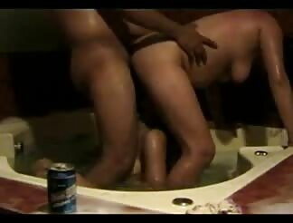 Threesome in jacuzzi home clip