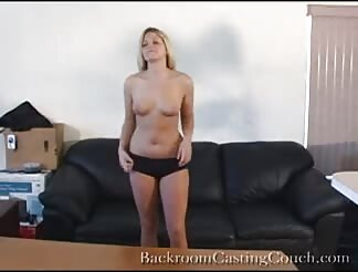 Adorable blonde boned hard in sex audition