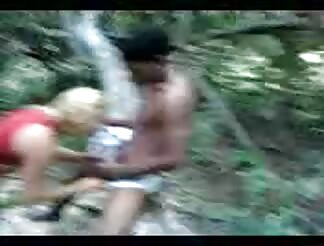 Blond doll slammed hard in forest