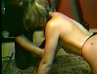 Bondage sex with a yellow hairy