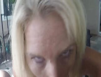 Blonde milf facialized