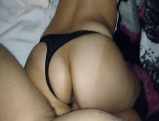 Awesome Latin booty doggy fucked from behind