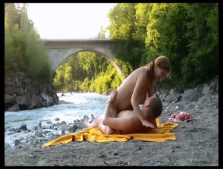 German couple romantic fuck outdoors