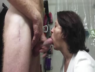 Homemade mature couple blowjob