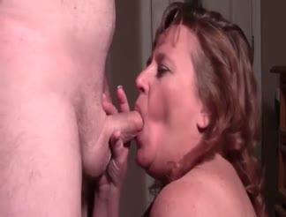 chubby cum guzzling sluts - Slut BBW eating cum after BJ