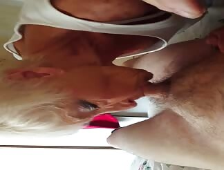 74 year old granny sucking my cock