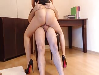 Hot Turkish chick riding cock till her hubby cums