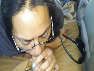 Hubby gets a blowjob at work
